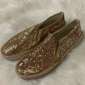 Jack Rodgers Gold Sliders Size 8M